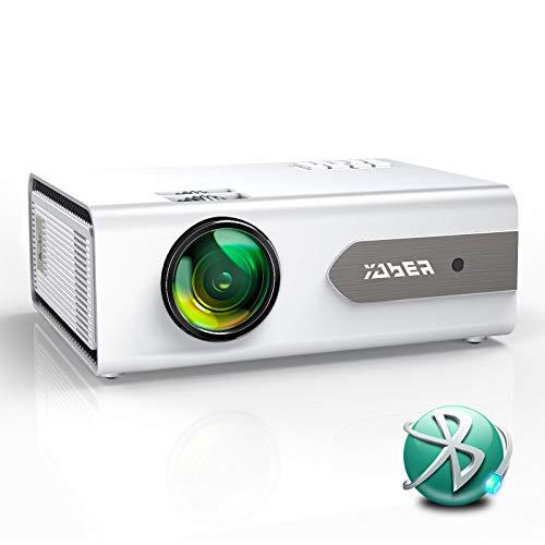 Vidéoprojecteur, YABER V3 Bluetooth Mini Projecteur Portable 5800 Lumens Soutien Full HD 1080P, Fonction de Zoom, Retroprojecteur Home Cinéma Compatible iOS/Android/TV Stick/PS4/Haut-parleur Bluetooth