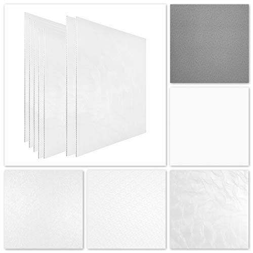 HEXIM Rasterdeckenplatten 62x62cm, effektvolle Deckengestaltung - PVC Kunststoff, hart, wasserfest - (grau foliert - 969402) Rasterdecke, Kassettendecke, Akustikdecke