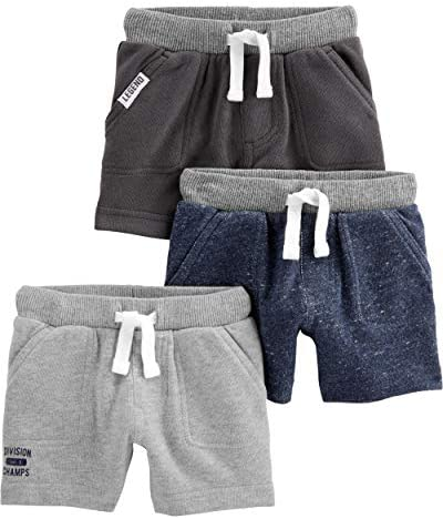 Simple Joys by Carter s Boys Toddler Multi Pack Knit Shorts Navy Heather Charcoal Heather Gray product image