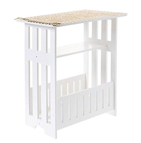 Dongy salontafel van hout, wit magazijijn tafel, nachtkastje, bijzettafel, 44 x 30 x 48 cm