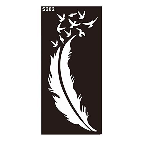 JUSTFOX - Henna Tattoo sjabloon Airbrush stencil veer vogels Kina Dövme