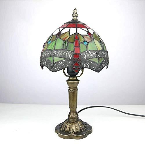 HDDD tafellamp in Tiffany-stijl Red Dragonfly Macchiato glazen scherm geschikt voor slaapkamer woonkamer exquise tafellamp binnendecoratie