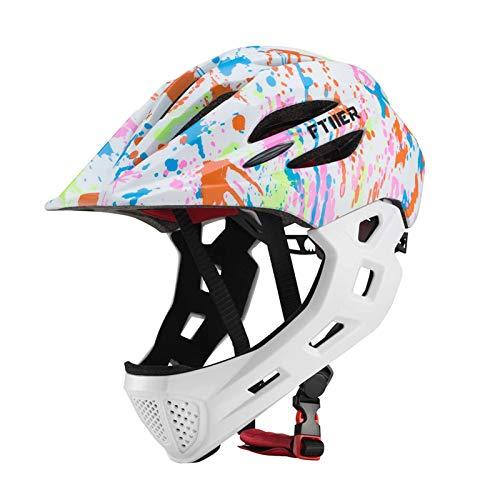 Ukuding Skate-Helm/Fahrradhelm, Skaterhelm & Fahrradhelm LED Cycling Schutzhelm Verstellbarer Kinder Fahrradhelm Zum Skaten Für BMX E-Scooter Inliner Fahrrad Skateboard Tretroller
