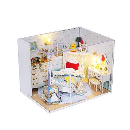 Teyun Mini casa de muñecas con Muebles, Bricolaje Juguete for niñas Plus Cubierta a Prueba de Polvo