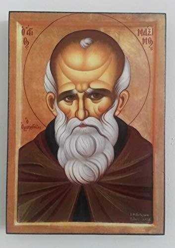 Artastate Icono de San Máximo el Confesor de Madera, Iconografia Cristiana Ortodoxa