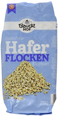 Bauckhof Haferflocken Kleinblatt glutenfrei, (4 x 475 g) - Bio