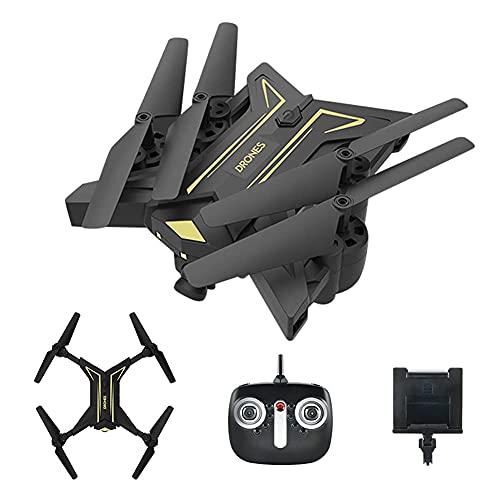 Drone con cámara HD para adultos y niños, cuadricóptero plegable con video en vivo FPV gran angular, vuelo de trayectoria, control de aplicaciones, flujo óptico, retención de altitud y baterías modul