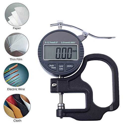 WNTHBJ Thousand punten digitale diktemeting, diktemeter/instrument/meter / 0.001 mm papierfilm lederen horloge