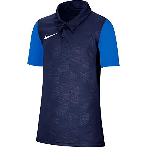 NIKE Trophy IV SS - Camiseta Unisex para niños, Unisex niños, Jersey, BV6749-410, Azul Marino/Foto Azul/Blanco, XS