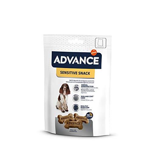ADVANCE Snacks - Sensitive Snack per Cani con Sensibilitè Digestive e Sintomi Cutanei - Confezione 7 x 150gr - 1050gr