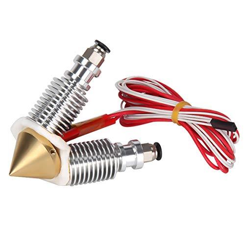 Cosye Brass Diamond Extruder Reprap Hotend E3D-V6 Heatsink 3 IN 1 OUT Multi Nozzle Extruder 3D Printer Kit Multi-color Nozzle Set