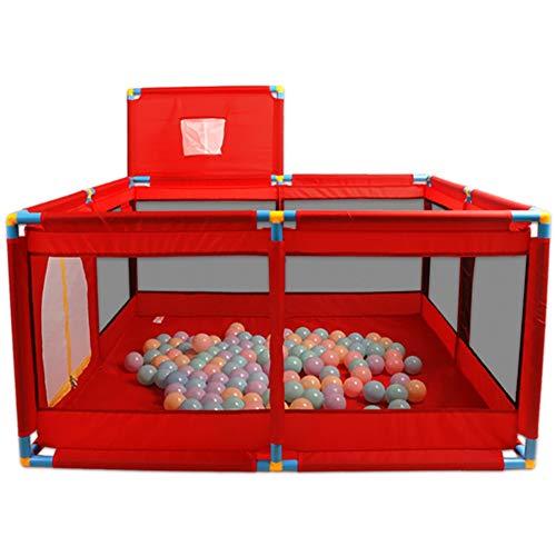 Meubles à chaussures Bébé Playpen Parc pour Bébé avec Boule Océanique, Barrière pour Bébé Petit Panier Extensions pour Coins de Jeux Intérieur et Extérieur Aire de Jeux (Color : Red)