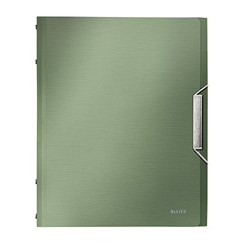 Leitz 39960053 Ordnungsmappe Style Ordnungsmappe Style, 12 Fächer, PP, seladon-grün