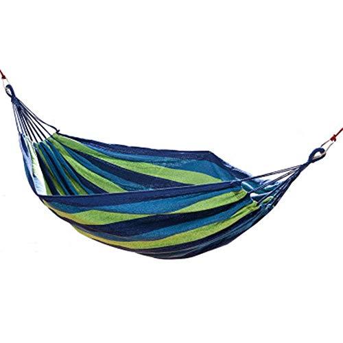 HYISHION Outdoor Hammock Thick Canvas Durable Snug Secure Fun Swing Hanging Easy Installation (Color : Bluestripes) SKYJIE
