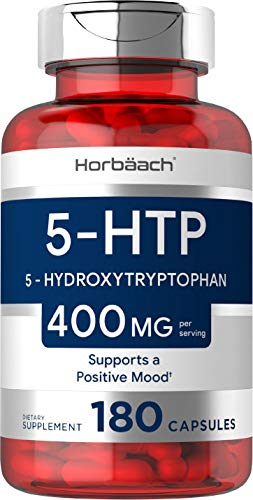 5HTP Supplement   400mg 180 Capsules   5-HTP Extra Strength  Non-GMO, Gluten Free   5 Hydroxytryptophan   by Horbaach