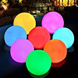 Floating Pool Light, RGB Color Changing Bathtub Led Ball Night Light, IP68 Waterproof Hot Tub Ball Light for Pool,Bath,Fountain,Gift,Home Decor(2pcs)