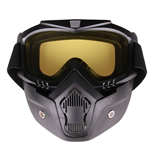 Leic Máscara táctica Estilo clásico Dardo de Bala Suave Espejo Protector Mascarilla para Entrenamiento Nerf CS Juego de Paintball Airsoft