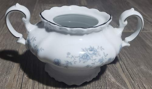 Johann Haviland Blue Garland Bavaria Sugar Bowl No Lid (No Platinum on Top of Handle)