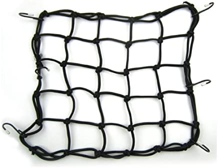 Heavy-duty 15 Cargo Net Fuel Bungee Cord Cargo Net for Motorcycles, Atvs - Stretches to 30 by YJ-WorldTrade