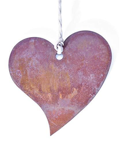 Rostikal | Edelrost Deko Herz zum hängen | Geschenkidee mit Herz | 10 cm