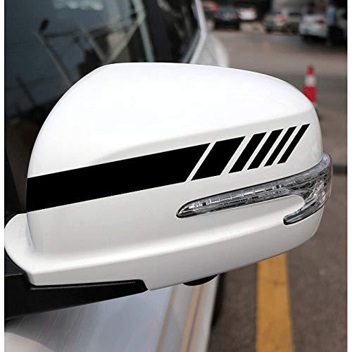 ZYHZJC Decoración del Espejo retrovisor de la Etiqueta engomada del Coche para Alfa Romeo 159 147 156 Giulietta 147 para Renault Duster Megane 2 Logan