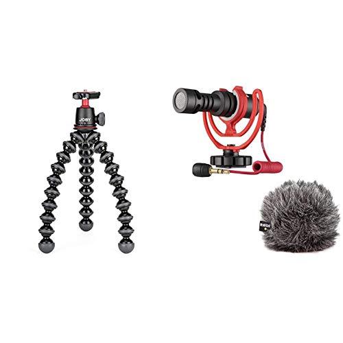 JOBY JB01507 BWW GorillaPod 3K Kit Flexibles und leichtes Stativ mit Kugelkopf fur DSLR CSC und spiegellose Kameras Traglast bis zu 3kg Rode VideoMicro kompakt On Camera Microphone