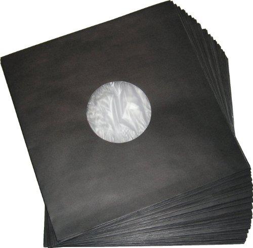 LP Schallplatten Innenhüllen mit Fütterung Deluxe schwarz Protected (100 Stück)