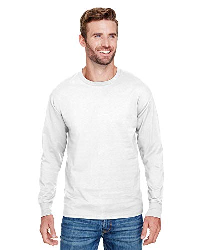 Champion Mens Long-Sleeve Ringspun T-Shirt (CP15) -White -XL