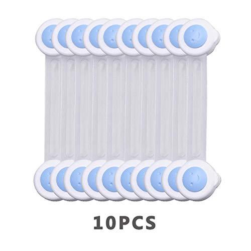Prueba de bebé, 10Pcs / Lot Protección de cerradura de seguridad para bebés de niños Refrigerador Plástico Castillo de niños Cajonera Gabinete Tapón de puerta de seguridad para niños, Pj015Qlan-10