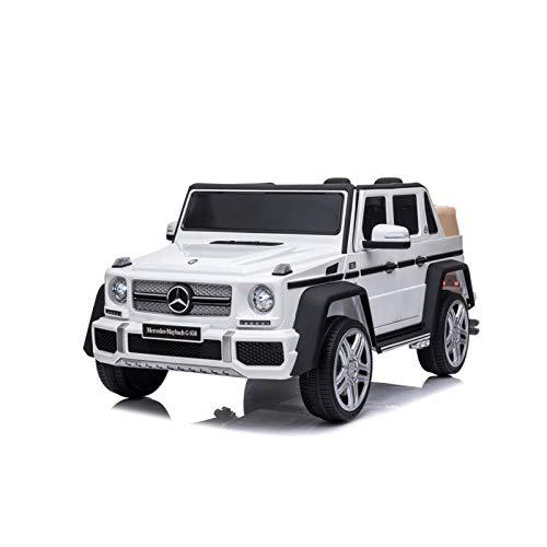 ATAA Mercedes Maybach G650 - Blanco - Coche eléctrico para niños Mercedes Maybach G650 Landaulet batería 12v y Mando Remoto para Padres
