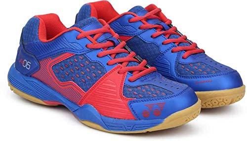 Yonex SRCP All England 06 Synthetic Badminton Shoes, 8 UK (Coral/Black)