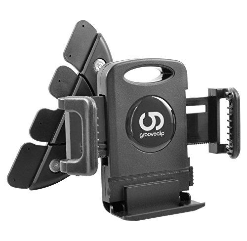 grooveclip CD Classic | KFZ-Halterung für den CD-Schlitz | Extra breit! Auch für breitere Smartphone- Navi- GPS Geräte | iPhone 7, 6 Plus UVM. bis 10,5cm | passt in jeden gewöhnlichen KFZ CD-Player