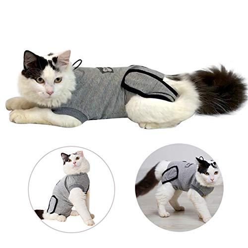 Doglemi Katzen-Regenerationsanzug, weich, mit elastischem Kragen, Alternative, mit elastischer Schnalle, für Katzen und Hunde, bei Wunden und Hauterkrankungen, für den Innenbereich