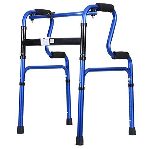 RSWLY Sillón de caña Andador Auxiliar Caminante Viejo Apoyabrazos Bastón de Cuatro Patas (Color : Blue)