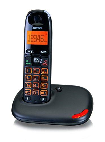 Switel DC5001 VITA uno Seniorentelefon, schnurloses DECT-Telefon, große Tasten und Display beleuchtet, Hörgerätekompatibel