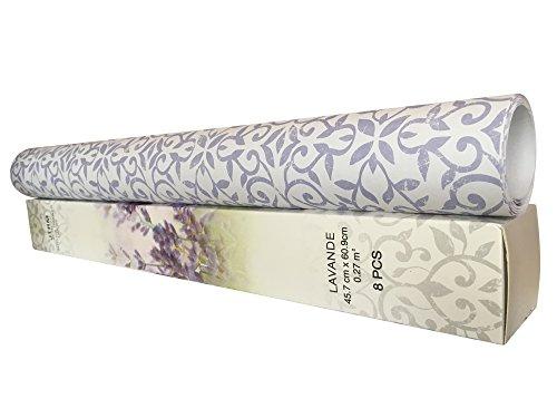 JTHM 8 Sheets Scented Drawer & Shelf Liners - Lavender Fragranced Drawer