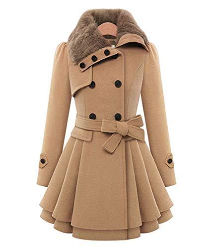 Winterparka dames Fashion Classic tweerijige trenchcoat lange mouwen elegante revers slim fit jongens chic warme verdikking grote maten outwear winterjas