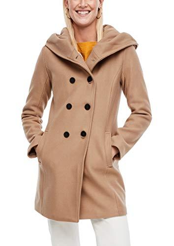 s.Oliver Damen Melierter Mantel aus Wollmix Brown 40