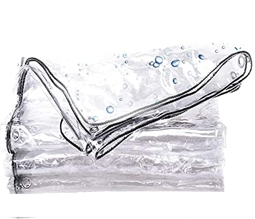 SSNG Lona Impermeables Exterior Transparente,Prueba de Polvo Tela Cubierta,Película PVC 0.3mm,Cubierta Vegetal Versátil,para Plantas De Jardín De Patio Al Aire Libre(Size: 2x3m(6.6x9.8ft))