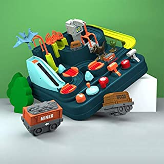 New Style ABS Plastic Small Train Children's Car Checkpoints Adventure Manual Inertia Track Educational Toy for Children D...