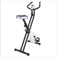 AYHa Plegable Bicicleta estática, cubierta de bicicleta de ejercicios con Led Display Mute Infinito ajuste de la resistencia de elevación asiento adecuado para cubierta ejercicio aeróbico