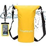 yumcute Bolsa Estanca Impermeable 20L,Set de Mochila Estanca con Funda de Móvil y Bolsa de Cintura,Pesca/Kayak de Playa/Rafting/natación/Snowboard