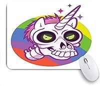 KAPANOU マウスパッド、落書き漫画ユニコーンデザインプリント おしゃれ 耐久性が良い 滑り止めゴム底 ゲーミングなど適用 マウス 用ノートブックコンピュータマウスマット