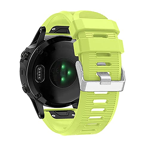 AISPORTS Correa de Reloj de Ajuste Rápido de 26mm Compatible con Garmin Fenix 3 Plus Correa de Silicona, Correa de Repuesto para Garmin Fenix 6X/Fenix 6X Pro/Fenix 5X/Fenix 5X Plus/Fenix 3/Fenix 3 HR