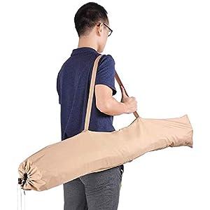 8' Patio Outdoor Water Resistant Umbrella Cover Bag Parasol Garden Yard Market Storage Zipper Sew-in Wands Quick Removal Tan Color