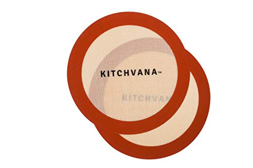 Kitchvana Round Silicone Non-Stick Baking Mat – Reusable – Pack of 2 9-inch silicone pastry mats – Heat Resistant Baking Sheet Liners by Kitchvana