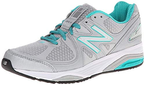 New Balance Women's W1540V2 Running Shoe, Silver/Green, 8 D US