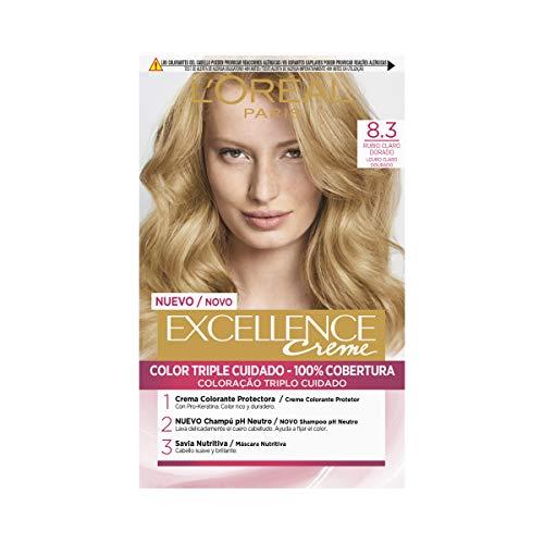 L'Oréal Paris Excellence Coloración Crème Triple Protección 8,3