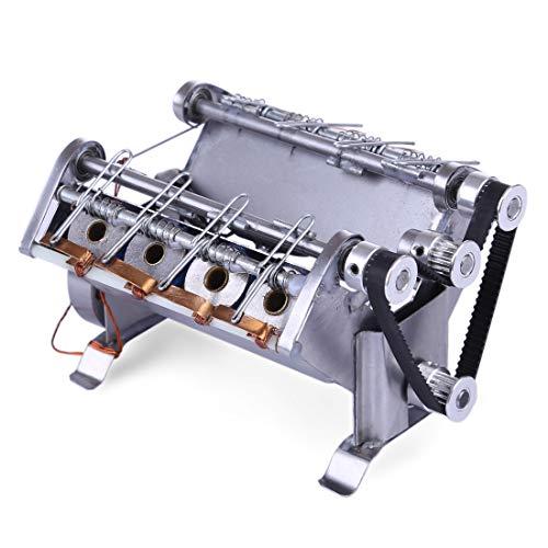 Motor Bausatz, V8 Metall Engine Motor Kit Modellbausatz mit 8-Zylinder Motormodell Pädagogisches Spielzeug für Technikbegeisterte