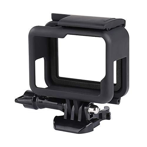 QIMEI-SHOP Carcasa Protectora Compatible con GoPro Hero 7/6/5/(2018) Black Marco Montura con Instale la Base y los Tornillos Negro